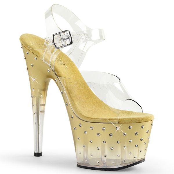 Sandalette mit goldenem Farbverlauf und zahlreichen Strass-Steinen STARDUST-708T